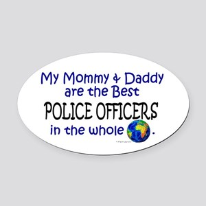 Best Police Officers In The World Oval Car Magnet