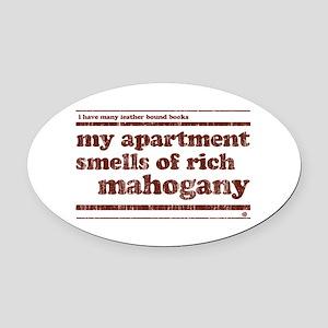 Mahogany Oval Car Magnet