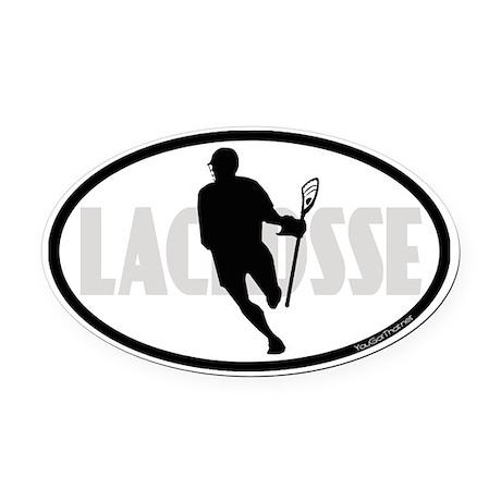 Lacrosse IRock Oval II Oval Car Magnet