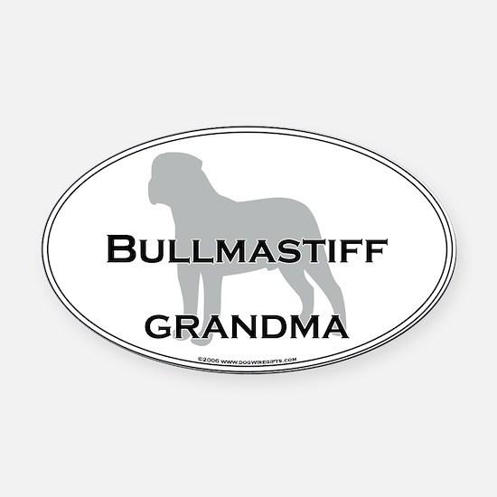 Bullmastiff GRANDMA Oval Car Magnet