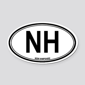 New Hampshire (NH) euro Oval Car Magnet