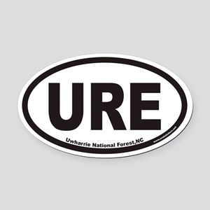 Uwharrie National Forest URE Euro Oval Car Magnet