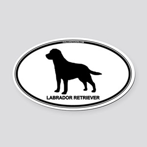 Lab Euro Oval Car Magnet (Oval)