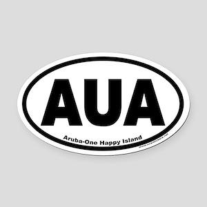 Aruba AUA Euro Oval Car Magnet (One Happy Island)