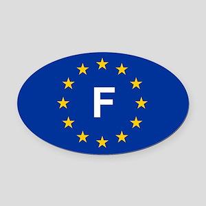 EU France Oval Car Magnet