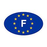 France Oval Car Magnets