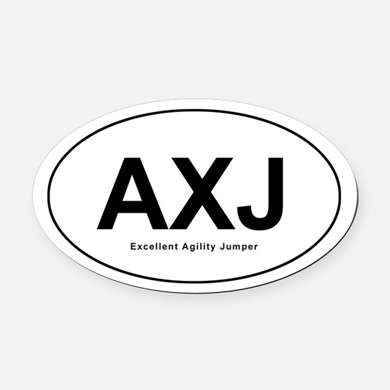 Agility Excellent Jumpers Oval Car Magnet