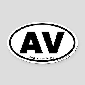 "Avalon, New Jersey ""AV"" Oval Car Magnet"