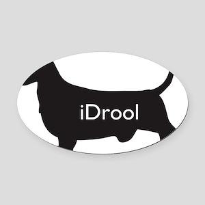Oval Car Magnet: iDrool