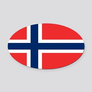 Norway Flag Oval Car Magnet