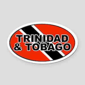 Trinidad and Tobago (TTO) Flag Oval Car Magnet