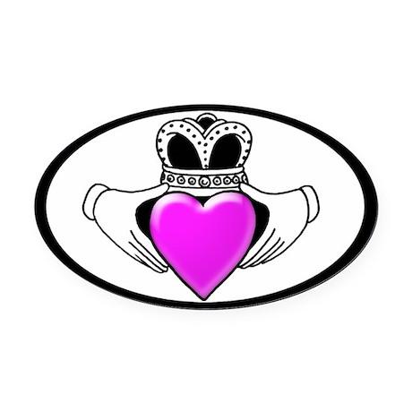 Breast Cancer Awareness Oval Car Magnet