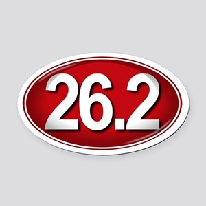 26.2 RED Marathon Oval Car Magnet