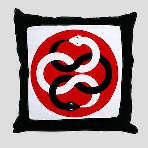Double Oroborous (Red) Throw Pillow