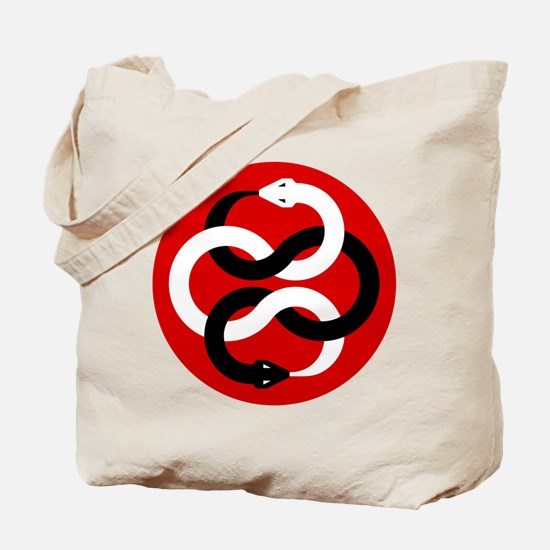 Double Oroborous (Red) Tote Bag