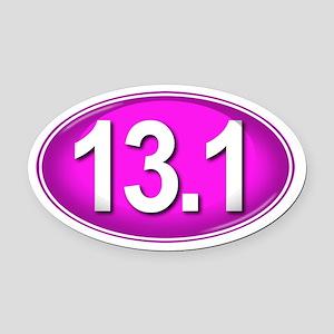 13.1 PINK Marathon Oval Car Magnet