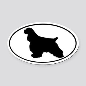 Cocker Spaniel Oval Car Magnet