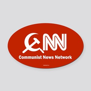 CNN - Commie News Network Oval Car Magnet