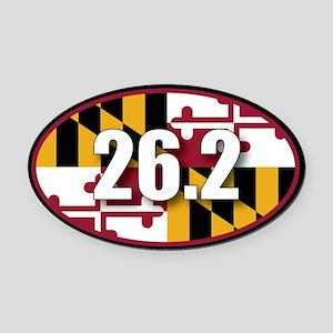Maryland State Full Marathon 26.2 Oval Car Magnet