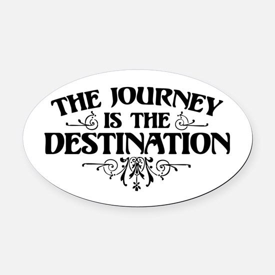 The Journey Oval Car Magnet