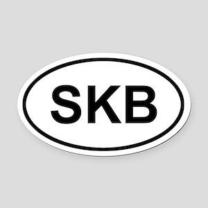 St. Kitts SKB Oval Car Magnet