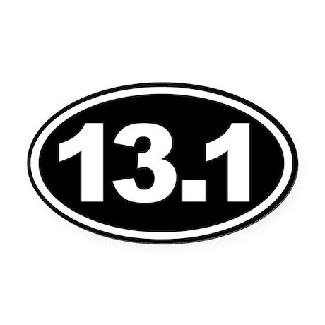 13 1 half marathon oval euro oval car magnet black