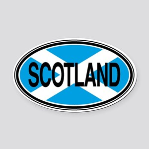 Scotland Full Text Euro Oval Car Magnet