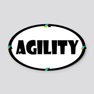 Agility Oval Car Magnet