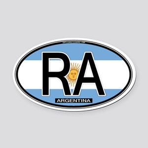 Argentina Oval Colors Oval Car Magnet