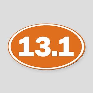 13.1 burnt orange Oval Car Magnet