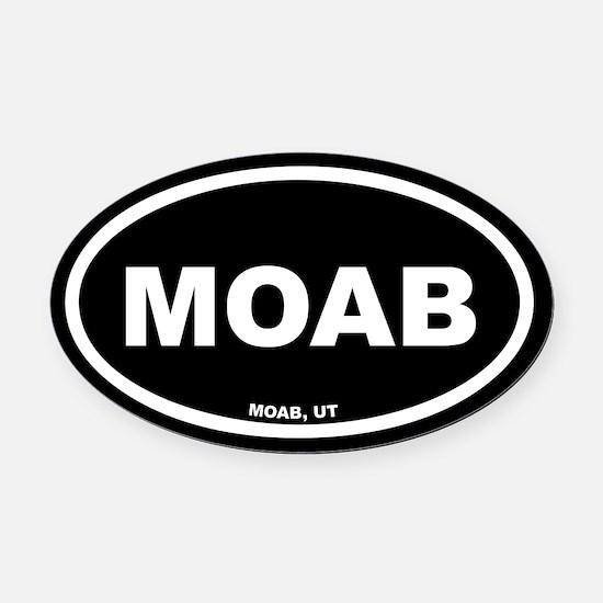 MOAB Utah Black Euro Oval Car Magnet