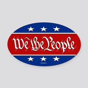 We The People Oval Car Magnet