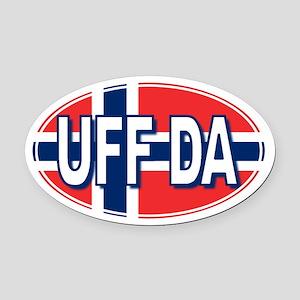 UFF DA - Oval Car Magnet