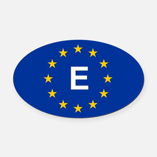 EU Spain Oval Car Magnet
