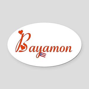 Bayamon PR Oval Car Magnet