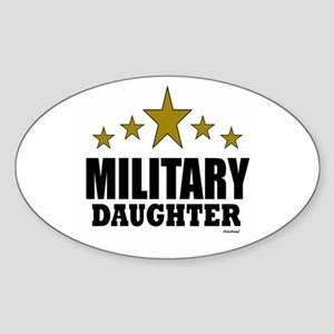 Military Daughter Sticker (Oval)