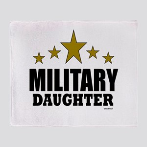 Military Daughter Throw Blanket
