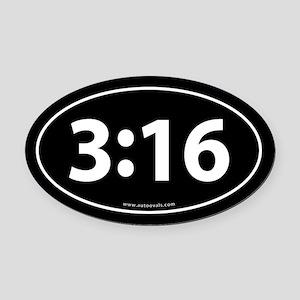 John 316 Euro Bumper Oval Car Magnet Black