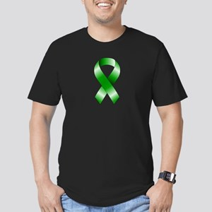Green Ribbon Men's Fitted T-Shirt (dark)