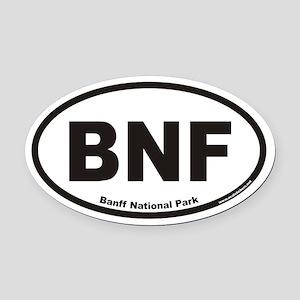Banff National Park BNF Euro Oval Car Magnet