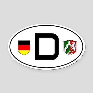 Germany car Oval Car MagnetNordrhein-Westfalen var