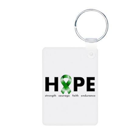 Green Ribbon Hope Aluminum Photo Keychain