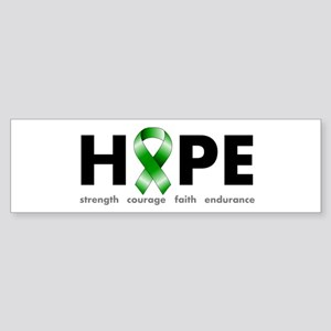 Green Ribbon Hope Sticker (Bumper)