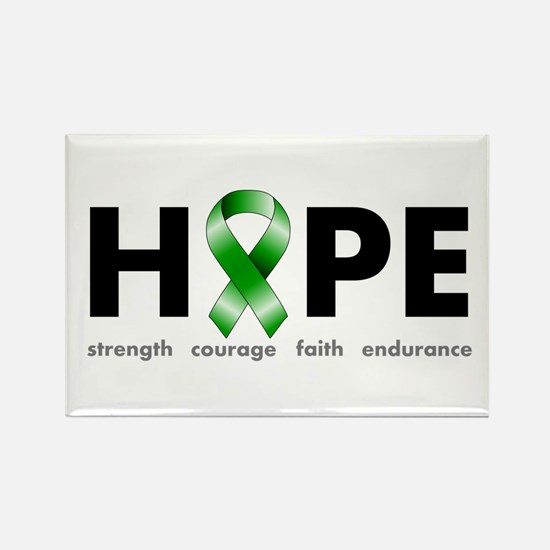Green Ribbon Hope Rectangle Magnet