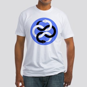 Double Oroborous (Blue) Fitted T-Shirt