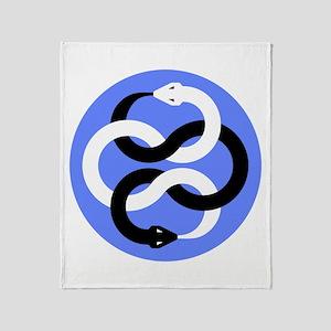 Double Oroborous (Blue) Throw Blanket