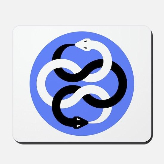 Double Oroborous (Blue) Mousepad