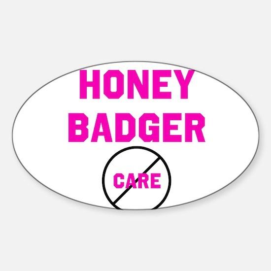 Fearless Honey Badgers Sticker (Oval)