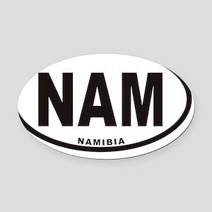 NAMIBIA NAM Euro Oval Car Magnet