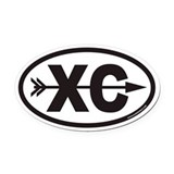 Cross country Oval Car Magnets